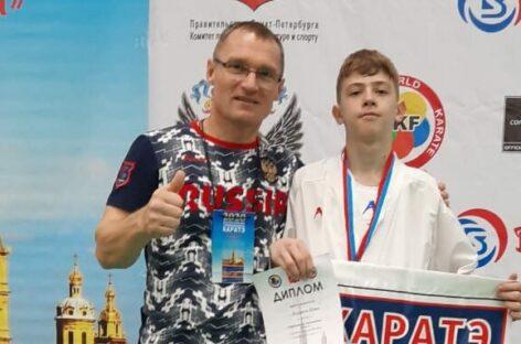 Сальский каратист стал серебряным призером соревнований в Санкт-Петербурге