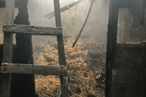 В Гиганте, на улице Автодорожной, горела крыша хозпостройки