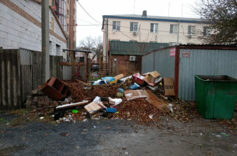 Жильцы многоквартирного дома в Сальске пожаловались, что возле их дома устроили стихийную свалку