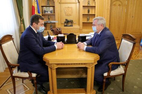 Донской губернатор и новый начальник СКЖД обсудили вопросы развития ж/д сообщения в регионе