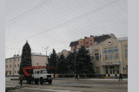 На центральной площади Сальска появится красочная гирлянда