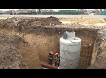 В Сальске строят новый канализационный коллектор