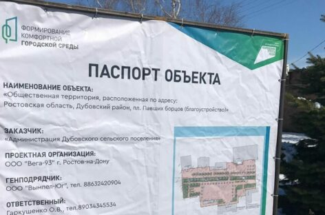 Под наблюдением: на объектах благоустройства на Дону будут установлены видеокамеры