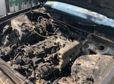 В микрорайоне Ново-Сальск горела «Toyota»