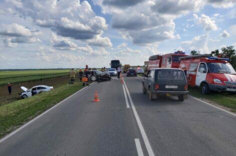 На трассе недалеко от Сальска столкнулись две иномарки
