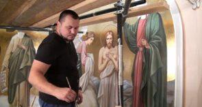 Волгодонские мастера расписывают сальский храм Святителя Димитрия Ростовского