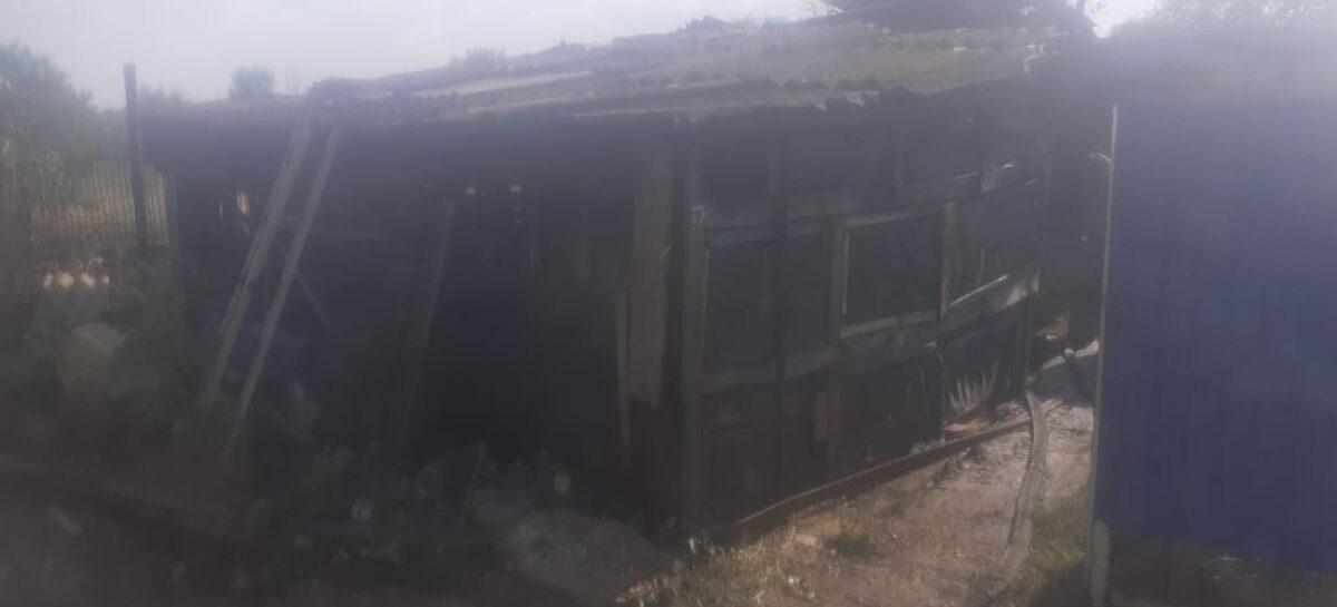 В Шаблиевке сгорел сенник