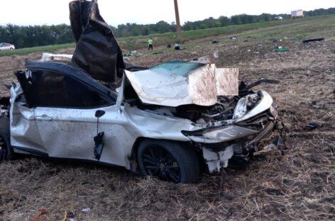 В Сальском районе в аварии погиб житель Подмосковья